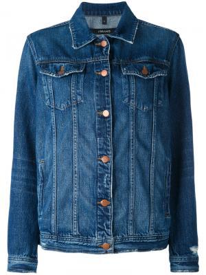 Джинсовая куртка на пуговицах J Brand. Цвет: синий