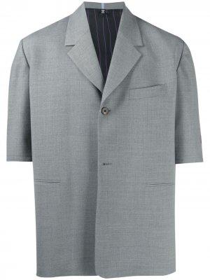 Пиджак с короткими рукавами MCQ. Цвет: серый