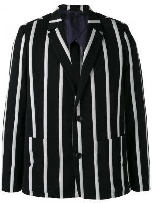 Полосатый пиджак 4Ever Henrik Vibskov. Цвет: чёрный