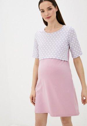 Платье домашнее Fest. Цвет: розовый