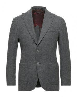 Пиджак MESSAGERIE. Цвет: серый