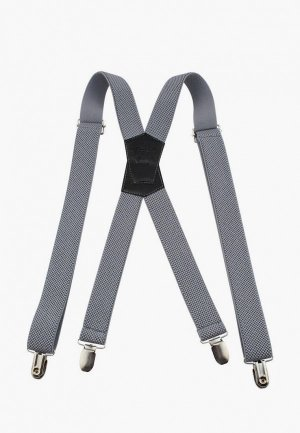Подтяжки Stilmark. Цвет: серый