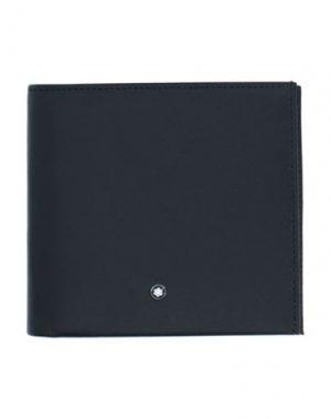Бумажник MONTBLANC. Цвет: черный