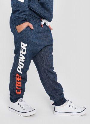 Трикотажные брюки для мальчиков O`Stin. Цвет: темно-синий