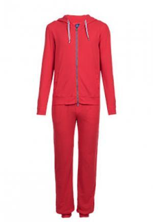 Спортивный костюм FEDELI. Цвет: красный
