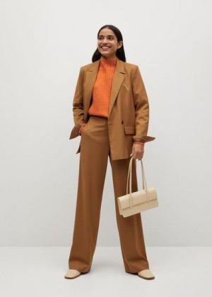 Джемпер в рубчик с воротником perkins - Pharrell Mango. Цвет: оранжевый
