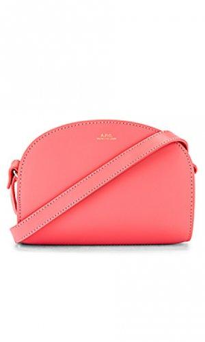 Сумка через плечо sac demi A.P.C.. Цвет: розовый