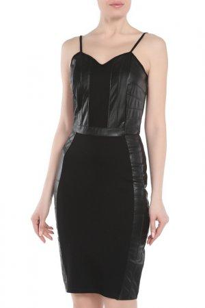 Платье Silvian Heach. Цвет: black