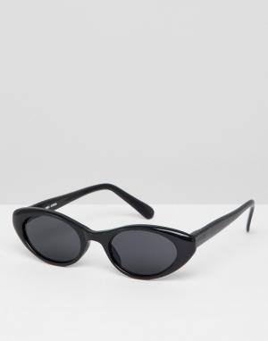 Черные солнцезащитные очки кошачий глаз Inspired эксклюзивно для ASOS Reclaimed Vintage. Цвет: черный