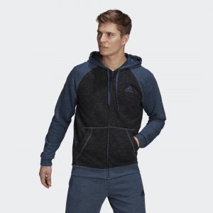 Толстовка Essentials Mélange Small Logo Sport Inspired adidas. Цвет: черный