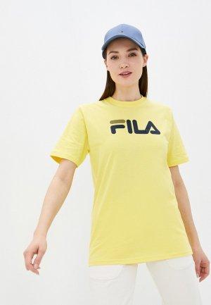 Футболка Fila. Цвет: желтый