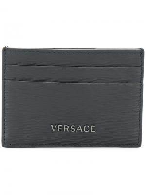 Классическая визитница Versace. Цвет: черный