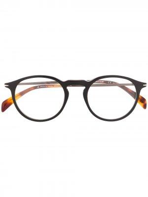 Очки в круглой оправе Eyewear by David Beckham. Цвет: коричневый