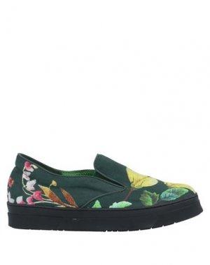Низкие кеды и кроссовки SGN GIANCARLO PAOLI. Цвет: темно-зеленый