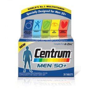 Мужские поливитамины Men 50 Plus Multivitamin Tablets - (30 таблеток) Centrum