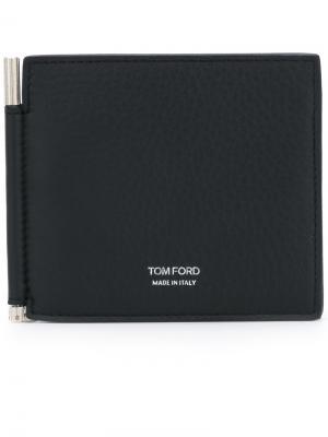 Визитница с печатью логотипом Tom Ford. Цвет: синий