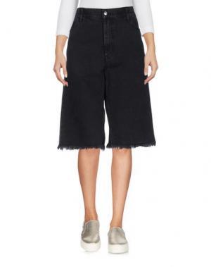 Джинсовые брюки-капри CHEAP MONDAY. Цвет: черный