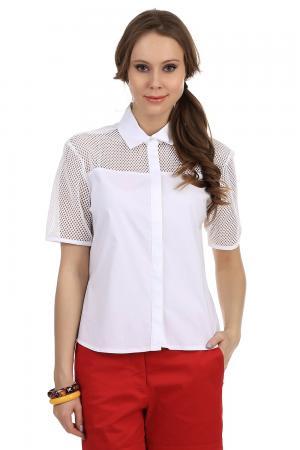 Рубашка с коротким рукавом Steilmann. Цвет: белый