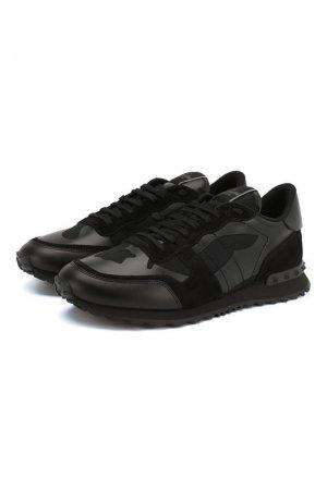 Комбинированные кроссовки Garavani Rockrunner Valentino. Цвет: черный