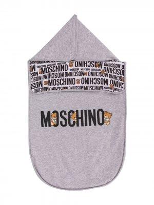 Спальный мешок Teddy Bear с логотипом Moschino Kids. Цвет: серый
