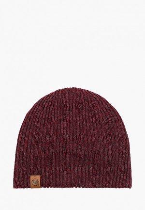 Шапка Buff Knitted&Polar Hat Lyne. Цвет: бордовый