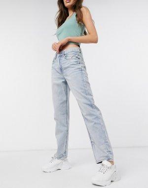 Голубые выбеленные джинсы бойфренда в стиле 90-х -Голубой American Eagle