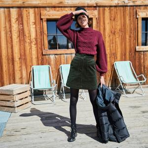 Пуловер с круглым вырезом и свободными рукавами LA REDOUTE COLLECTIONS. Цвет: каштан
