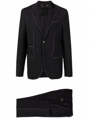 Костюм с однобортным пиджаком Philipp Plein. Цвет: черный