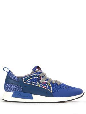 Комбинированные кроссовки Barracuda. Цвет: синий