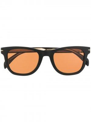 Солнцезащитные очки DB 1006/S в квадратной оправе Eyewear by David Beckham. Цвет: черный