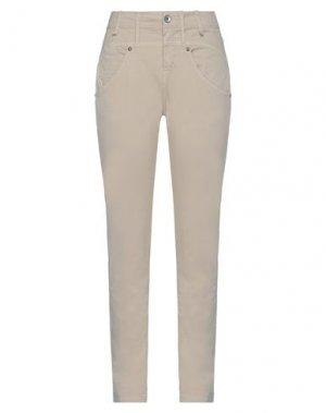 Повседневные брюки FORNARINA. Цвет: бежевый