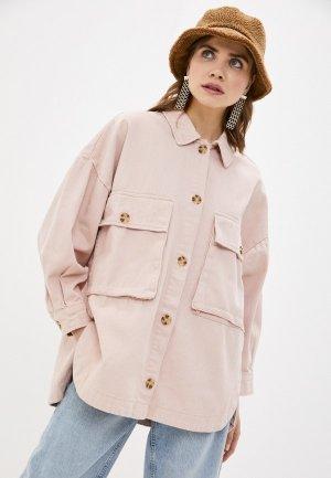 Куртка джинсовая Sela. Цвет: розовый