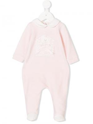 Пижама с вышитым медведем Bimbalo. Цвет: розовый