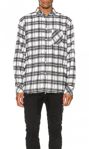 Рубашка с длинными рукавами work Zanerobe. Цвет: black & white