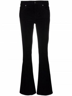 Расклешенные джинсы с завышенной талией 7 For All Mankind. Цвет: черный