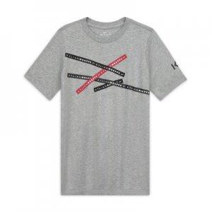 Игровая футболка для школьников Kylian Mbappé - Серый Nike