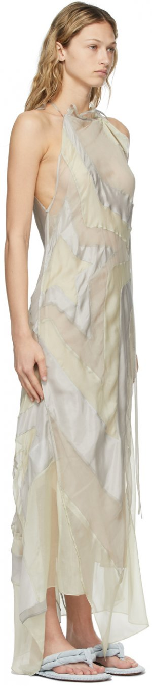 Grey Ben Quinn Edition Habotai Silk Dress Acne Studios. Цвет: aab light grey