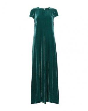 Длинное платье ASPESI. Цвет: зеленый