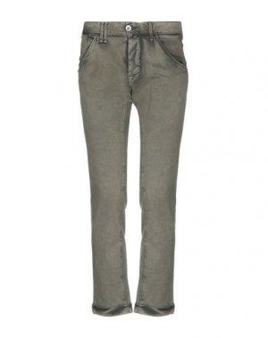 Повседневные брюки CYCLE. Цвет: зеленый-милитари