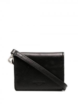 Мини-кошелек с ремешком через плечо Dolce & Gabbana. Цвет: черный