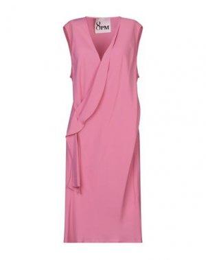 Платье до колена 8PM. Цвет: розовый