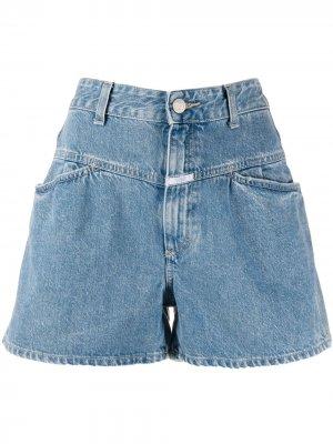 Джинсовые шорты с завышенной талией Closed. Цвет: синий
