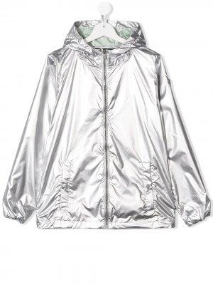 Непромокаемая куртка с эффектом металлик Ciesse Piumini Junior. Цвет: серебристый