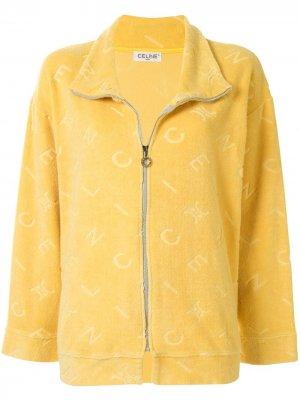 Куртка на молнии с логотипом Céline Pre-Owned. Цвет: желтый
