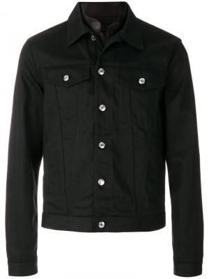 Джинсовая куртка Alexander McQueen. Цвет: черный