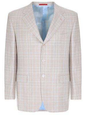 Пиджак из шерсти и шелка ISAIA
