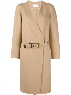 Пальто без лацканов Chloé. Цвет: желтый