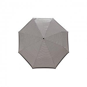 Складной зонт Doppler. Цвет: чёрно-белый