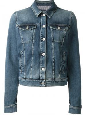 Укороченная джинсовая куртка Armani Jeans. Цвет: синий