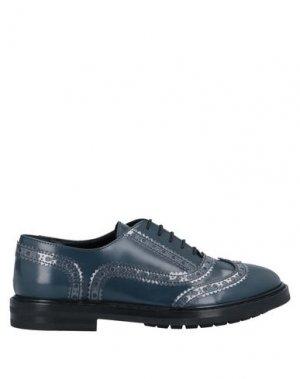 Обувь на шнурках AGL ATTILIO GIUSTI LEOMBRUNI. Цвет: грифельно-синий